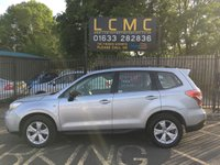 USED 2014 64 SUBARU FORESTER 2.0 D X 5d 145 BHP STUNNING ICE SILVER METALLIC PAINT WORK, LOVELY GREY CLOTH INTERIOR TRIM, ALLOY WHEELS, HEATED SEATS, TOW BAR, BLUE TOOTH, CD PLAYER, CHEAP 4X4, LOCAL OWNER, RECENT SERVICE, CAN DELIVER