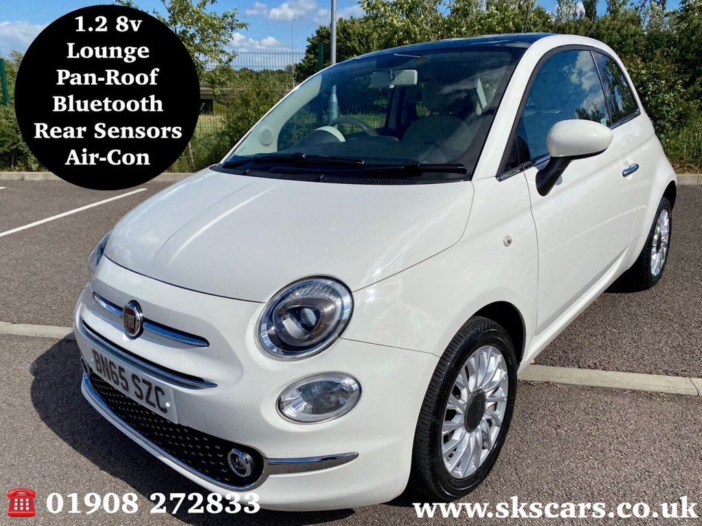 USED 2015 65 FIAT 500 1.2 LOUNGE 3d 69 BHP **12 MONTHS NATIONAL WARRANTY**