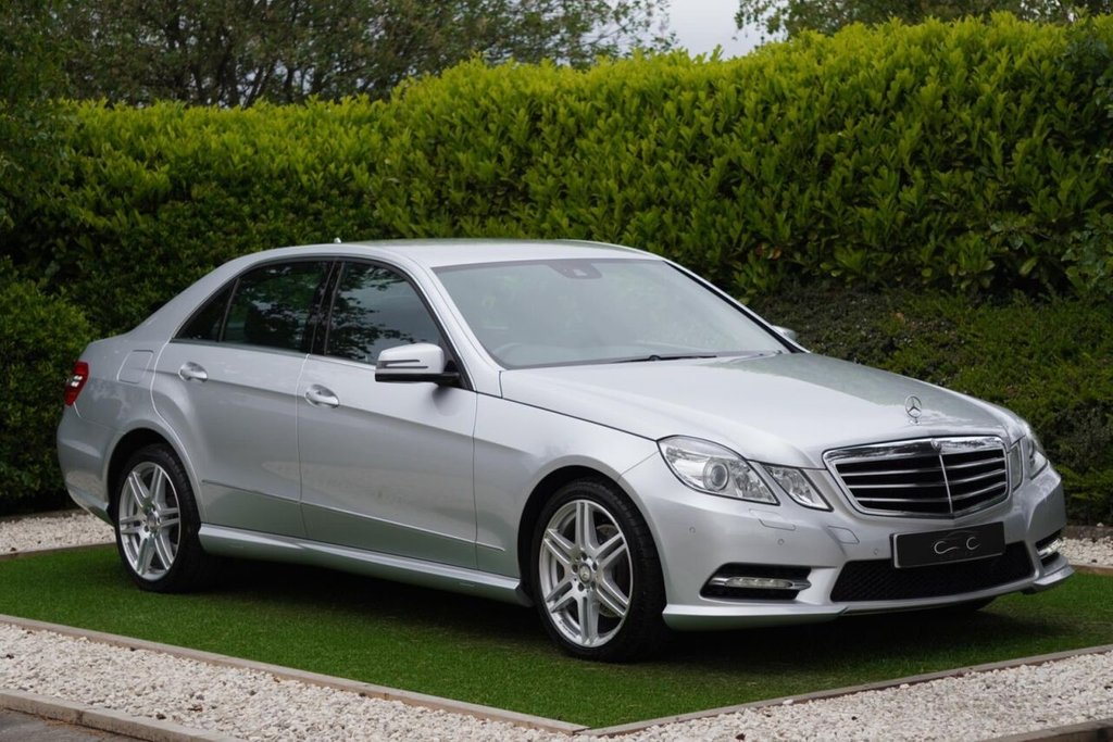 USED 2013 13 MERCEDES-BENZ E-CLASS 2.1 E220 CDI BLUEEFFICIENCY S/S SPORT 4d 170 BHP A Superb Example in Fantastic Condition Throughout with a Detailled Full Service History. Finished in Iridium Silver with Black Leather / Alcantara Heated Seats, Command - Satellite Navigation + Bluetooth Connectivity, Front and Rear Park Distance Control, Automatic Bi-Xenon Headlights + Power Wash, 19 Inch AMG Alloy Wheels, Leather Multi Function Steering Wheel, Heated Electric Powerfold Mirrors, Cruise Control
