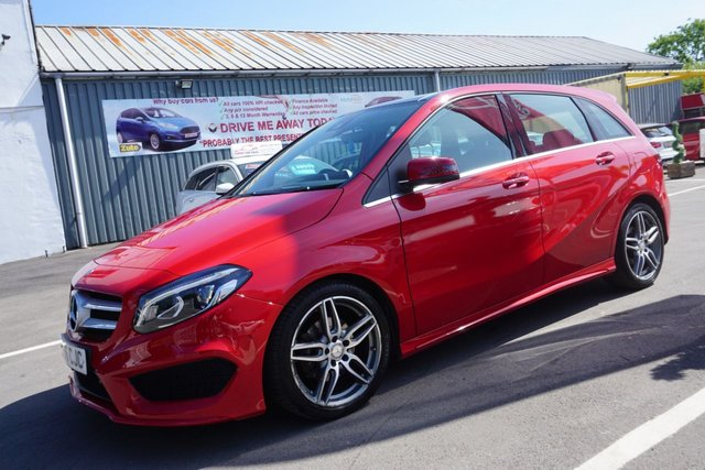 USED 2016 66 MERCEDES-BENZ B-CLASS 1.6 B 200 AMG LINE PREMIUM PLUS 5d 154 BHP STUNNING ONE OWNER FROM NEW B200 AMG LINE