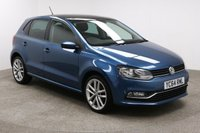USED 2014 64 VOLKSWAGEN POLO 1.2 SEL TSI 5d 109 BHP Stunning Dark Blue with 17 inch Alloys and Grey Cloth interior and complete with FULL Main Dealer Service History. Upon opening the drivers side door you will be presented with features such as a Electric Sunroof, Privacy Glass, Parking Sensors, Bluetooth, DAB Radio, CD/AUX/USB/SD, Stop/Start Functionality, Air Con, Multi Function Steering Wheel, Cruise Control, Electric Windows/Mirrors, Heated Rear Windscreen, and a Spare Wheel in the boot.