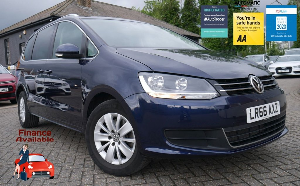 USED 2016 66 VOLKSWAGEN SHARAN 2.0 SE TDI BLUEMOTION TECHNOLOGY DSG 5d 148 BHP 1 OWNER ULEZ FREE BLUETOOTH
