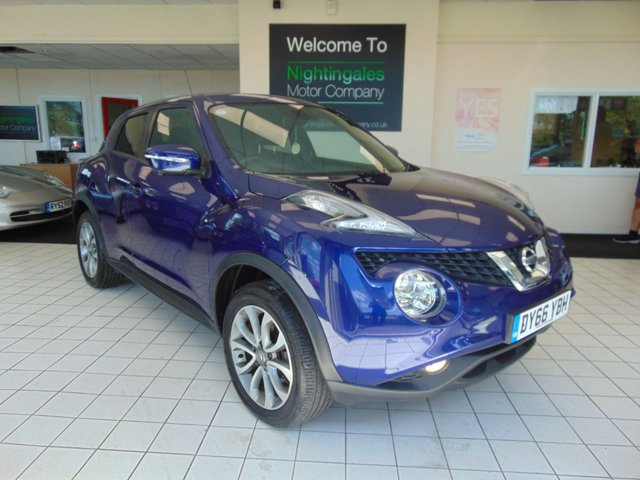 USED 2016 66 NISSAN JUKE 1.5 TEKNA DCI 5d 110 BHP FULL SERVICE HISTORY + MAY 2021 MOT + SATELLITE NAVIGATION + BLUETOOTH + FULL LEATHER TRIM + HEATED SEATS + CRUISE CONTROL + CLIMATE CONTROL + ALLOYS + REMOTE CENTRAL LOCKING + ELECTRIC WINDOWS + DAB RADIO + £20 ROAD TAX + GREAT MPG + 360 DEGRESS REVERSING CAMERA