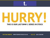 """USED 2008 58 BMW 1 SERIES 2.0 118I SE 2d 141 BHP Fine example in Scwartz black with grey sports seats, black electric hood,17""""spoke alloys,6 speed, climate control, traction, rear park sensors-with full service history . Such a great looking 4 seating Convertible -unbelievable value"""