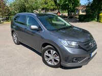 USED 2012 62 HONDA CR-V 2.0 I-VTEC EX 5d 153 BHP One Owner Full Honda History MINT CAR Full Honda Service History, MOT 05/21, Only ONE Owner From New, Keyless Entry And Start, Full Glass Panoramic Roof With Electric Sunblind, Power Opening + Closing Tailgate, Sat Nav, Bluetooth Handsfree And Media Streaming, Unmarked Diamond Cut Alloys with All Four Matching Michelin Tyres, X2 Keys, Dual Zone Climate Aircon, Front And Rear Parking Sensors, Cruise Control And Speed Limiter, Full Black Leather Upholstery, Heated Seats, Electric Adjust Seat, Downhill Accent Control, Full Carpet Mat S