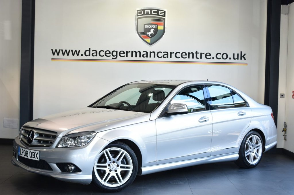 USED 2008 08 MERCEDES-BENZ C-CLASS 1.8 C180 KOMPRESSOR SPORT 4DR 155 BHP Finished in a stunning silver styled with alloys. Upon entry you are presented with black half leather interior, bluetooth, speed limiter, air conditioning, auto lights, beautifully maintained