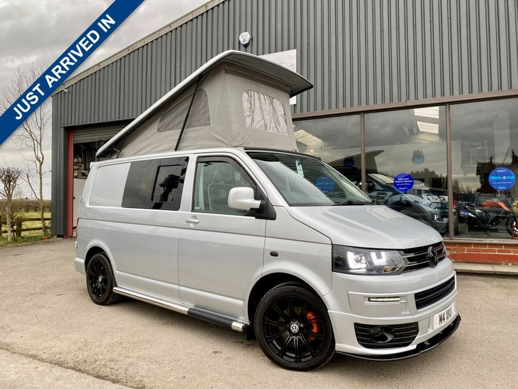 USED 2007 57 VOLKSWAGEN TRANSPORTER 1.9 T28 TDI CAMPERVAN 84 BHP CAMPERVAN CONVERSION, LOW MILES, 4 BERTH, PRIVACY GLASS, TV AND SOLAR PANEL