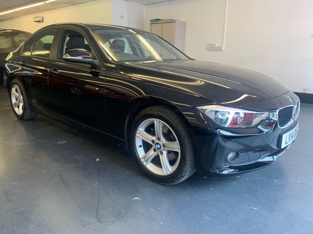USED 2014 14 BMW 3 SERIES 2.0 318D SE 4d 141 BHP FULL BMW SERVICE HISTORY, FULL LEATHER, FRONT REAR PARKING SENSORS, 1 PREVIOUS OWNER