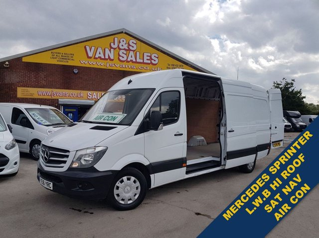 USED 2016 16 MERCEDES-BENZ SPRINTER  LWB HI ROOF VAN ANNIVERSARY AIR CON £11K + VAT ((((((( LOTS MORE IN STOCK OVER 100 ON SITE )))))))