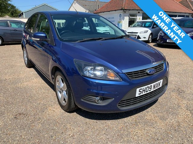 USED 2009 09 FORD FOCUS 1.6 ZETEC 5d 100 BHP ONE YEAR WARRANTY / COMPREHENSIVE HISTORY WITH CAM BELT AND WATER PUMP DONE AT 85785 MILES FEB 2019