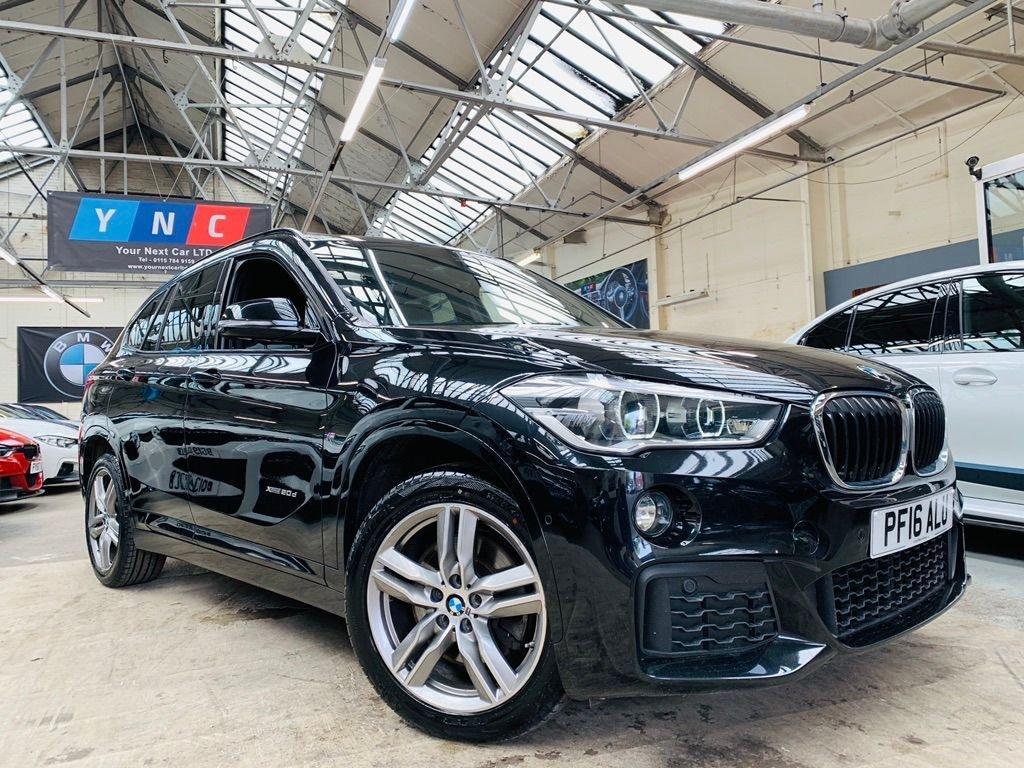 USED 2016 16 BMW X1 2.0 20d M Sport Auto xDrive (s/s) 5dr BLACK LEATHER AUTO FSH