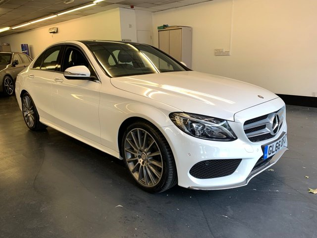 USED 2016 66 MERCEDES-BENZ C-CLASS 2.1 C220 D AMG LINE PREMIUM PLUS 4d 170 BHP FMBSH, 1 OWNER, PREMIUM PLUS, FULLY LOADED, PAN ROOF