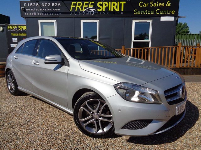 USED 2014 64 MERCEDES-BENZ A-CLASS 2.1 A200 CDI Sport 7G-DCT 5dr Pan roof, Bluetooth, Cruise