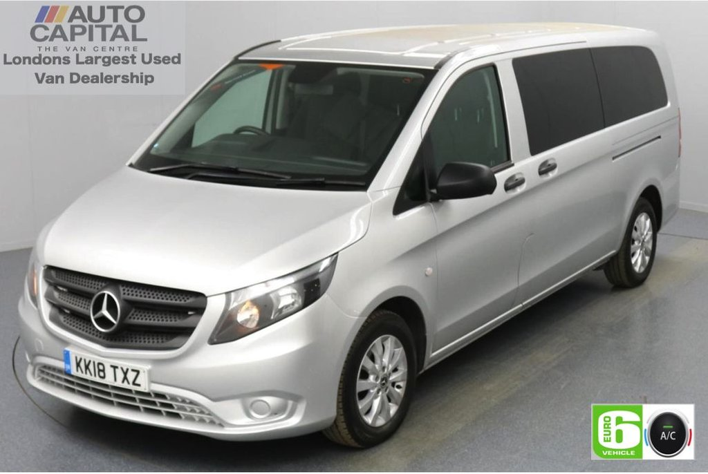 USED 2018 18 MERCEDES-BENZ VITO 2.1 114 Bluetec Tourer Select 136 BHP X-LWB Auto Minibus Automatic   Reversing Camera   TEMPMATIC Air Conditioning   9 Seats    Privacy Glass