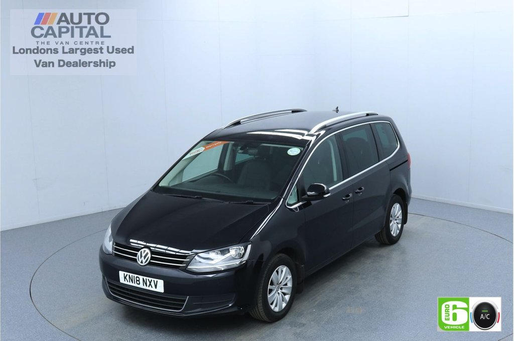 USED 2018 VOLKSWAGEN SHARAN 2.0 TDI CR BlueMotion Tech SE NAV 150 Bhp Auto Euro 6 Low Emission Finance Packages Available | Auto Start-Stop | F-R Sensors