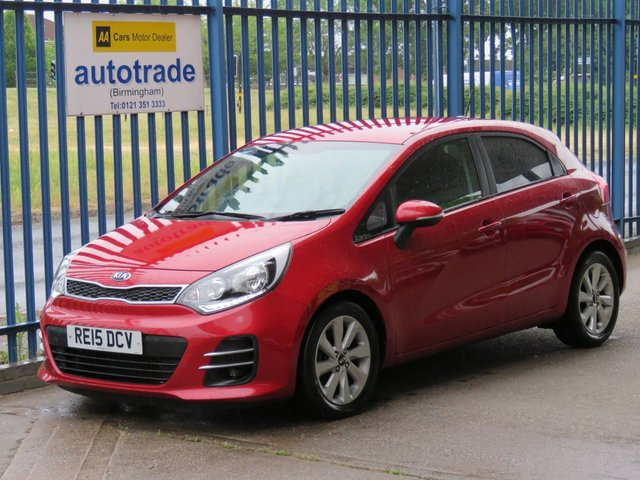 USED 2015 15 KIA RIO 1.4 CRDI 2 ISG 5d 89 BHP zero road tax, bluetooth, dab, 1 owner service history, low miles