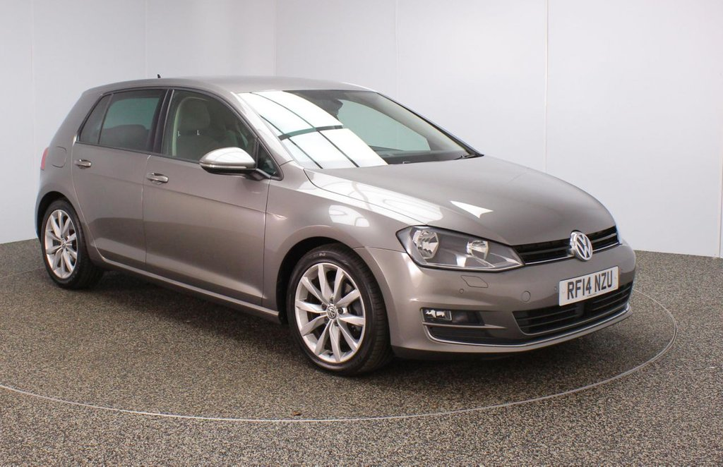 USED 2014 14 VOLKSWAGEN GOLF 2.0 GT TDI BLUEMOTION TECHNOLOGY 5DR 148 BHP SERVICE HISTORY + £20 12 MONTHS ROAD TAX + SATELLITE NAVIGATION + PARKING SENSOR + HEATED FRONT SEATS + BLUETOOTH + CRUISE CONTROL + MULTI FUNCTION WHEEL + AIR CONDITIONING + LANE ASSIST SYSTEM + PRIVACY GLASS + DAB RADIO + RADIO/CD/USB + ELECTRIC WINDOWS + ELECTRIC/HEATED/FOLDING DOOR MIRRORS + 17 INCH ALLOY WHEELS