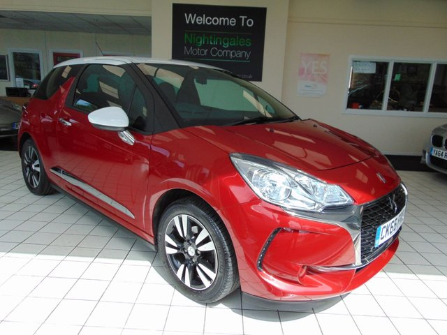 USED 2016 66 DS DS 3 1.2 PURETECH CHIC 3d 80 BHP FULL SERVICE HISTORY + LOW MILES + NEW MOT + ALLOYS + AIR CONDITIONING + BLUETOOTH + CRUISE CONTROL + PRIVACY GLASS + LOW CAR TAX + REMOTE CENTRAL LOCKING + ELECTRIC WINDOWS + DAB RADIO +ABS