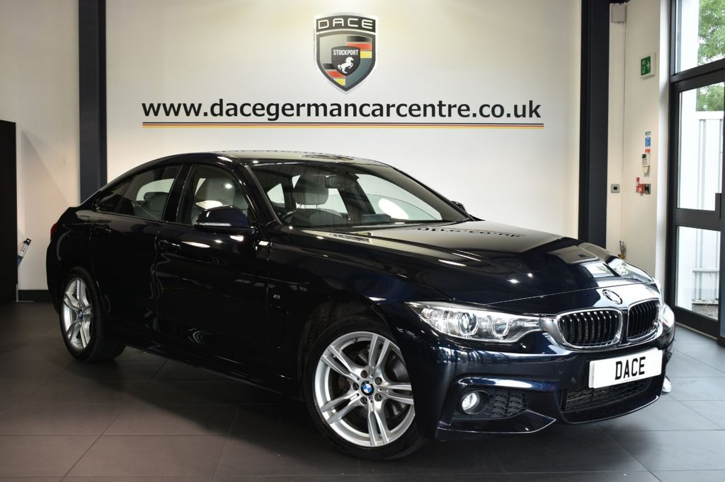 """USED 2016 16 BMW 4 SERIES GRAN COUPE 3.0 430D XDRIVE M SPORT GRAN COUPE 4DR 255 BHP Finished in a stunning carbon black styled with 18"""" alloys. Upon opening the drivers door you are presented with full leather interior full service history, pro satellite navigation, bluetooth, heated sport seats with memory, xenon lights, cruise control, DAB radio, reversing camera, Automatic air conditioning, Headlight cleaning system, rain sensors, Light package, parking sensors, ULEZ EXEMPT"""