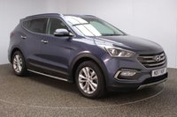 USED 2017 17 HYUNDAI SANTA FE 2.2 CRDI PREMIUM BLUE DRIVE 5DR 1 OWNER 197 BHP FULL SERVICE HISTORY + HEATED FRONT/REAR LEATHER SEATS + SATELLITE NAVIGATION + REAR CAMERA + PARK ASSIST + PARKING SENSOR + BLUETOOTH + CRUISE CONTROL + CLIMATE CONTROL + ELECTRIC FRONT SEATS + PRIVACY GLASS + XENON HEADLIGHTS + DAB RADIO + ELECTRIC WINDOWS + ELECTRIC/HEATED/FOLDING DOOR MIRRORS + 18 INCH ALLOY WHEELS