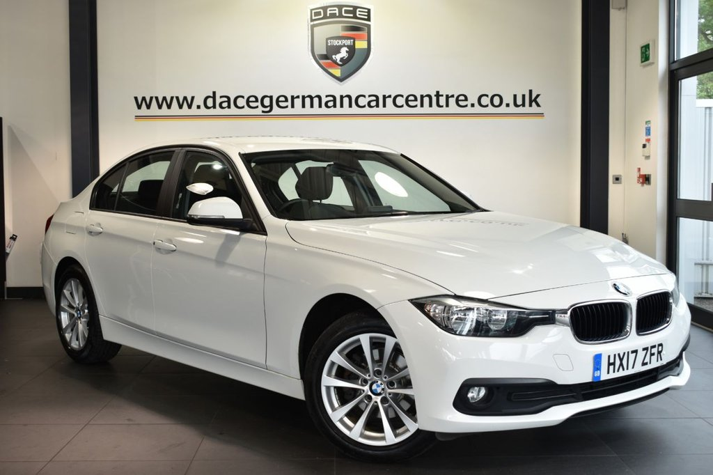 """USED 2017 17 BMW 3 SERIES 2.0 318D SE 4DR 148 BHP Finished in a stunning alpine white styled with 17"""" alloy wheels. Upon entry you are presented with anthracite upholstery, satellite navigation, bluetooth, cruise control, parking sensors, DAB radio, aux/usb media, multi function steering wheel, automatic air con, climate control, rain sensors"""