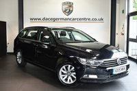"USED 2015 15 VOLKSWAGEN PASSAT 1.6 S TDI BLUEMOTION TECHNOLOGY DSG 5DR AUTO 119 BHP Finished in a stunning black styled with 16"" alloys. Upon entry you are presented with anthracite upholstery, full service history, bluetooth, parking sensors, DAB radio, air conditioning, climate control, multi function steering wheel, parking sensors"