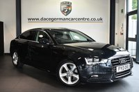 "USED 2013 13 AUDI A5 2.0 SPORTBACK TDI SE TECHNIK AUTO 5DR 141 BHP Finished in a stunning black styled with 17"" alloys. Upon entry you are presented with full black leather interior, full Audi service history, satellite navigation, bluetooth, cruise control, heated seats, multi functional steering wheel, heated mirrors, parking sensors"