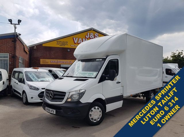 USED 2016 66 MERCEDES-BENZ SPRINTER LUTON BOX VAN TAILIFT (( EURO 6 )) WATCH H/D VIDEO (((( LOTS MORE EURO 6 VANS ON SITE OVER 100 )))