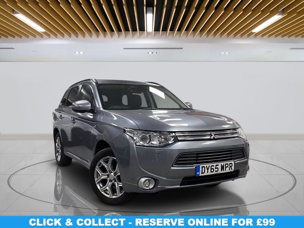 "USED 2015 65 MITSUBISHI OUTLANDER 2.0 PHEV GX 4HS 5d 162 BHP | HYBRID/ELECTRIC | NO ULEZ CHARGES Heated Leather Seats, Sunroof, 18"" Alloy Wheels, Parking Sensor(s), Privacy Glass, Climate Control"