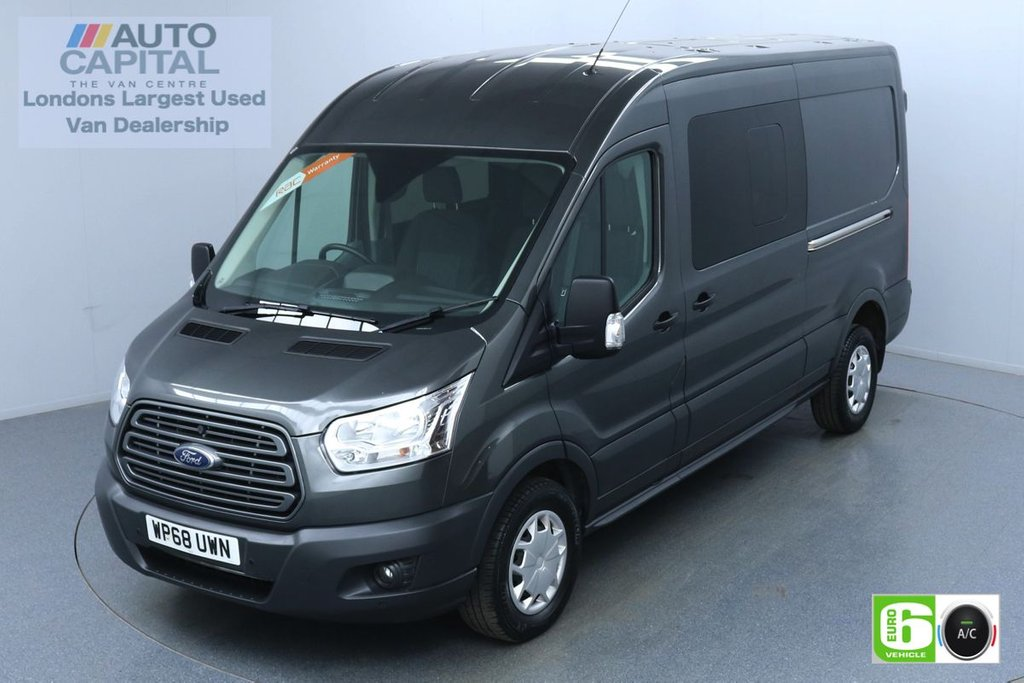 USED 2018 68 FORD TRANSIT 2.0 350 Trend L3 H2 130 BHP 6 Seats Combi Euro 6 Low Emission Finance Available Online   Air Con   F-R Parking sensors