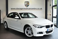 "USED 2015 65 BMW 3 SERIES 2.0 320D M SPORT 4DR AUTO 188 BHP Finished in a stunning alpine white styled with 18"" alloy wheels. Upon entry you are presented with full black leather interior, full service history, satellite navigation, bluetooth, cruise control with brake function, M sport package, parking sensors, DAB radio, light package, LED foglights, M aerodynamics package, M sport suspension, teleservices, rain sensors, multi function steering wheel"