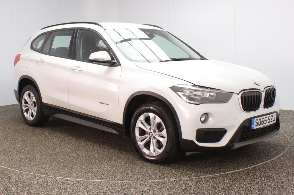 USED 2016 65 BMW X1 2.0 SDRIVE18D SE 5DR 1 OWNER AUTO 148 BHP FULL BMW SERVICE HISTORY + £30 12 MONTHS ROAD TAX + SATELLITE NAVIGATION + PARKING SENSOR + CLIMATE CONTROL + DAB RADIO + ELECTRIC WINDOWS + ELECTRIC MIRRORS + 17 INCH ALLOY WHEELS