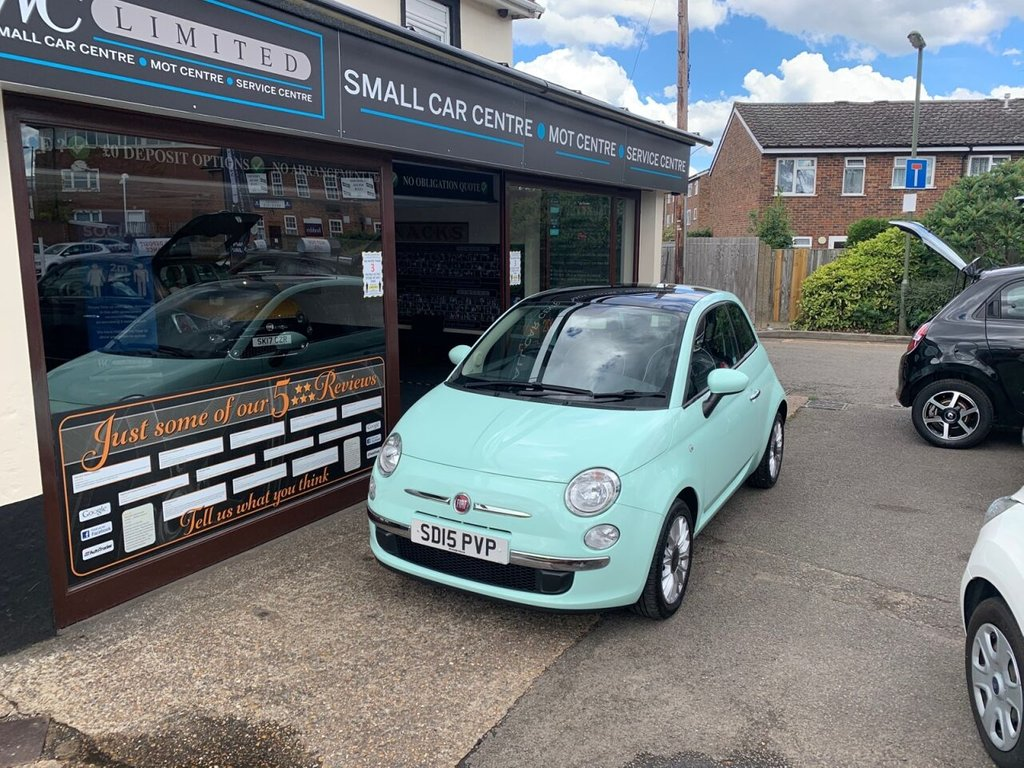 USED 2015 15 FIAT 500 1.2 LOUNGE 3d 69 BHP PANROOF - AIRCON - USB - BLUETOOTH