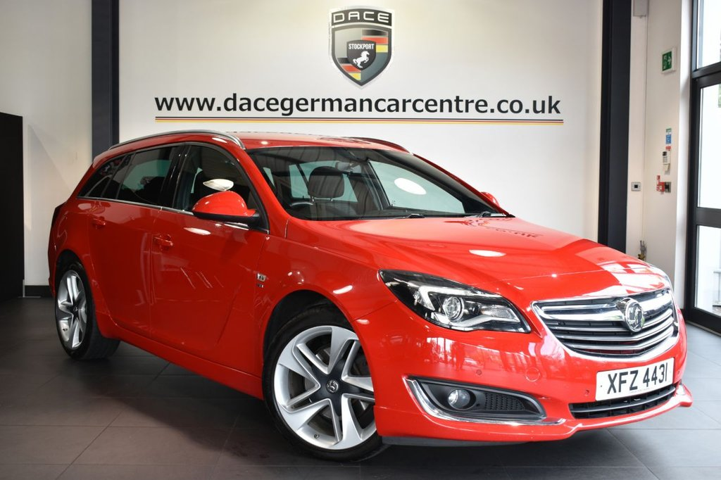 "USED 2015 15 VAUXHALL INSIGNIA 2.0 SRI NAV VX-LINE CDTI 5DR 160 BHP Finished in a stunning red styled with 19"" alloys. Upon opening the drivers door you are presented with cloth upholstery, satellite navigation, bluetooth, cruise control, DAB radio, multi functional steering wheel, touch screen, air conditioning, parking sensors"