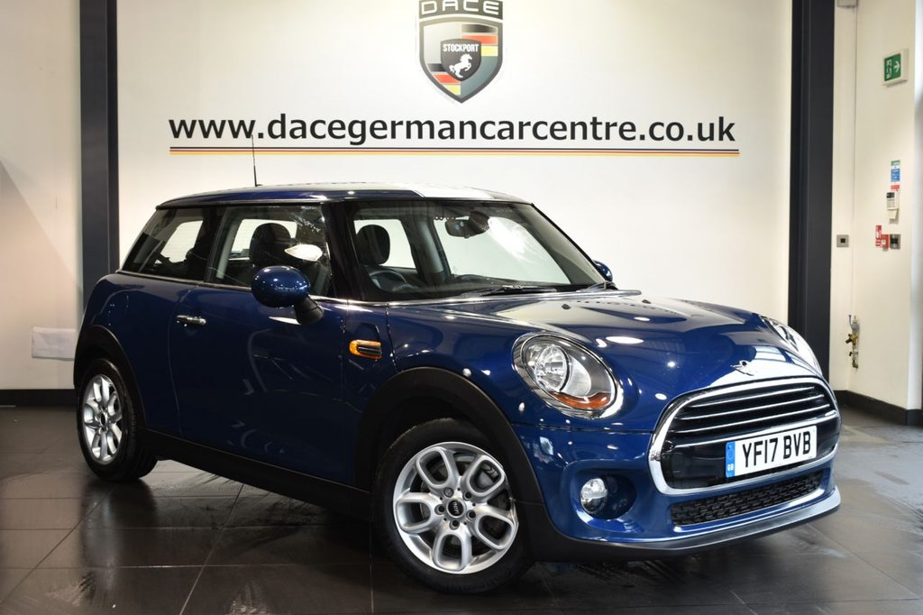"USED 2017 17 MINI HATCH COOPER 1.5 COOPER 3DR 134 BHP full mini service history Finished in a stunning deep metallic blue styled with 16"" alloys. Upon opening the drivers door you are presented with anthracite upholstery, full mini service history, bluetooth, DAB radio, mini excitement package, Light package, Rain sensors, front/rear fog lights, Automatic air conditioning"