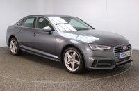 USED 2016 66 AUDI A4 2.0 TDI S LINE 4DR 1 OWNER 188 BHP FULL SERVICE HISTORY + £30 12 MONTHS ROAD TAX + HALF LEATHER SEATS + SATELLITE NAVIGATION + PARKING SENSOR + BLUETOOTH + CRUISE CONTROL + CLIMATE CONTROL + MULTI FUNCTION WHEEL + XENON HEADLIGHTS + DAB RADIO + ELECTRIC WINDOWS + ELECTRIC/HEATED DOOR MIRRORS + 18 INCH ALLOY WHEELS