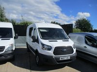USED 2017 67 FORD TRANSIT 2.0 350 L3 H2 crew cab in van DRW 5d 130 BHP 2017 67 Transit Factory 7 seater crew cab Ford Warranty applies until Sep 2020 finance from 6.9% APR