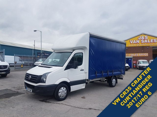 USED 2017 17 VOLKSWAGEN CRAFTER LUTON BOX VAN  EURO 6 CURTAINSIDE ( NEW ENGINE FITTED ) ((((( VW CURTIANSIDER NEW ENGINE FITTED EURO 6 )))))
