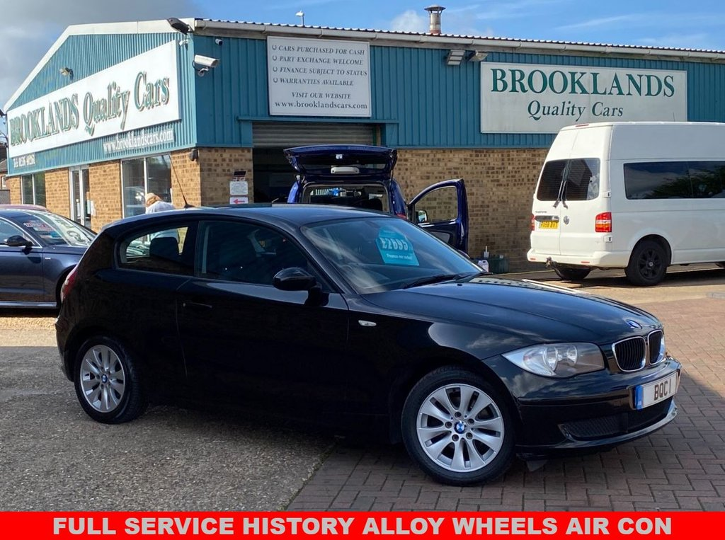 USED 2008 58 BMW 1 SERIES 1.6 116I ES 3 Door Jet Black 121 BHP Lovely BMW with FULL SERVICE HISTORY Alloy Wheels Air Con