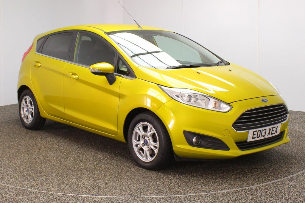 USED 2013 13 FORD FIESTA 1.6 ZETEC ECONETIC TDCI 5DR 94 BHP FULL SERVICE HISTORY + FREE 12 MONTHS ROAD TAX + PARKING SENSOR + BLUETOOTH + MULTI FUNCTION WHEEL + AIR CONDITIONING + RADIO/CD/AUX/USB + ELECTRIC WINDOWS + ELECTRIC/FOLDING DOOR MIRRORS + 14 INCH ALLOY WHEELS