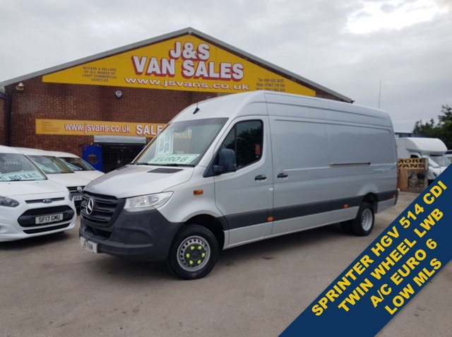 USED 2018 68 MERCEDES-BENZ SPRINTER 514 CDI HGV VAN ONLY 22K kms A/C 1 OWNER  (((( LOTS MORE EURO 6 VANS ON SITE OVER 100 )))