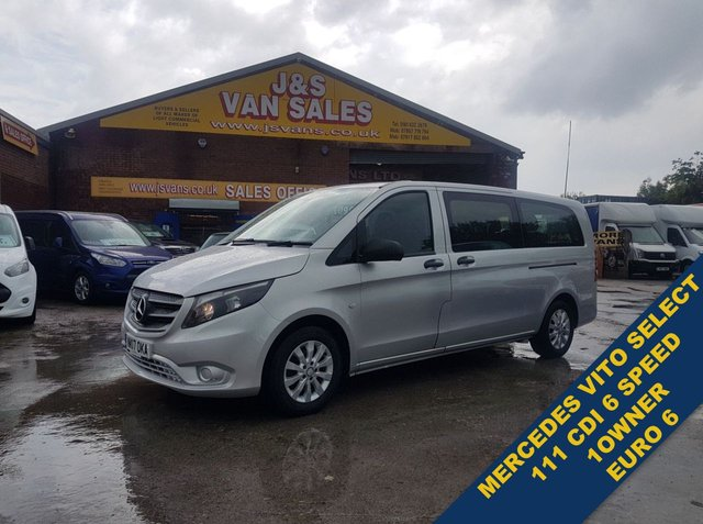 USED 2017 17 MERCEDES-BENZ VITO MINIBUS MPV BUS BLUETEC TOURER SELECT  ALLOYS C/CODED CHEAPEST NEW SHAPE SELECT 9 SEATER ON LINE