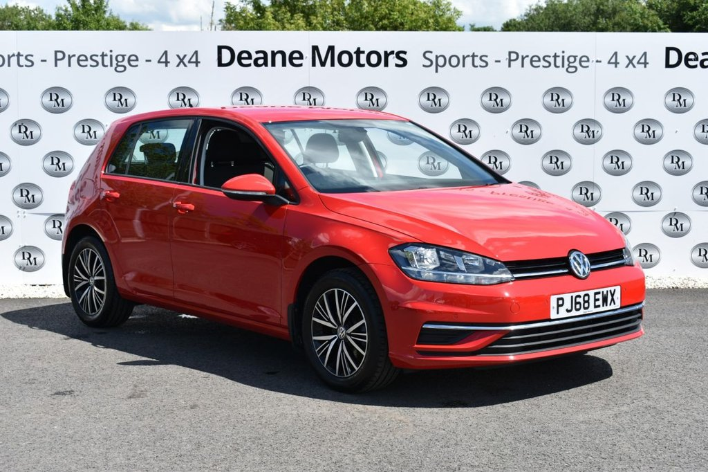 USED 2018 68 VOLKSWAGEN GOLF 1.0 SE NAVIGATION TSI 5d 114 BHP SUPERB MILEAGE