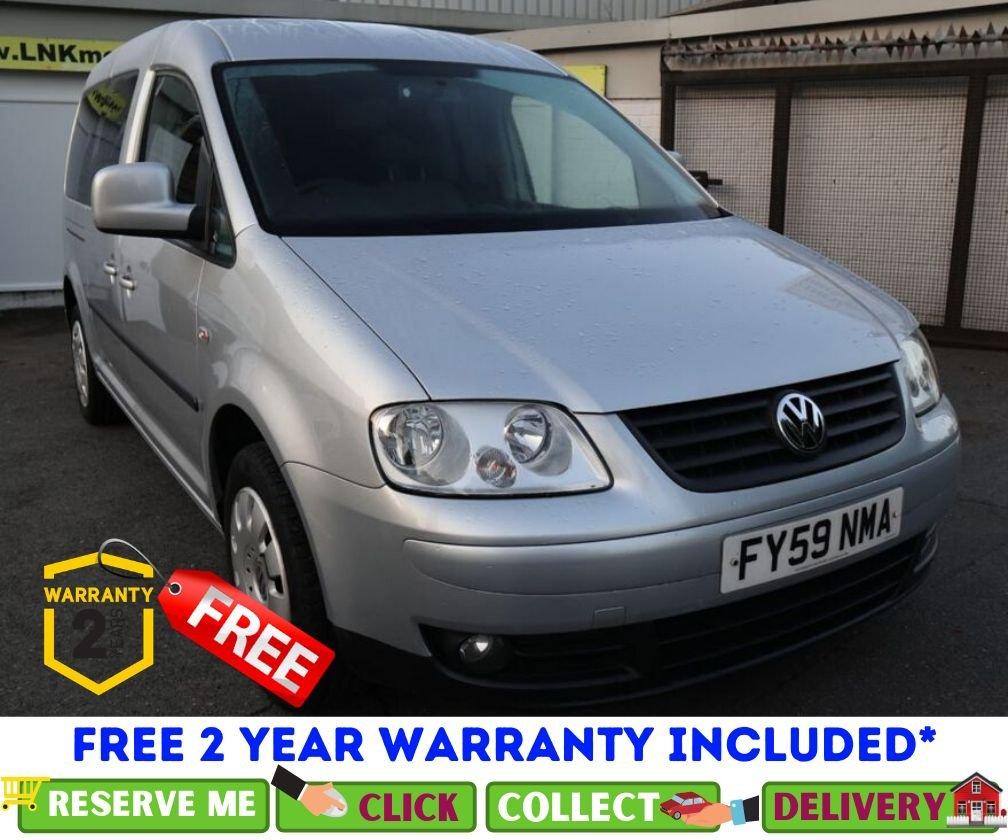 USED 2009 59 VOLKSWAGEN CADDY MAXI 1.9 LIFE TDI DSG 5d AUTO 103 BHP *CLICK & COLLECT OR DELIVERY