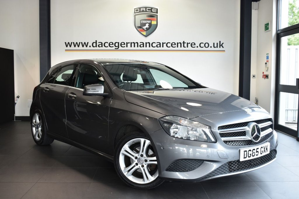 "USED 2015 65 MERCEDES-BENZ A-CLASS 1.5 A180 CDI SPORT EDITION 5DR 107 BHP Finished in a stunning mountain metallic grey styled with  17"" alloys. Upon opening the drivers door you are presented with full leather interior, full service history, satellite navigation, bluetooth, reversing camera, cruise control, rain sensors, attention assist, multi functional steering wheel, active park assist, ULEZ EXEMPT"