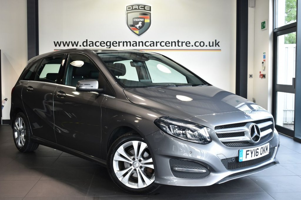 """USED 2016 16 MERCEDES-BENZ B-CLASS 2.1 B 200 D SPORT PREMIUM 5DR 134 BHP full service history Finished in a stunning metallic grey styled with 17"""" alloys. Upon opening the drivers door you are presented with full black leather interior, full service history, satellite navigation, bluetooth, heated seats, reversing camera, multi functional steering wheel, parking sensors, ULEZ EXEMPT"""