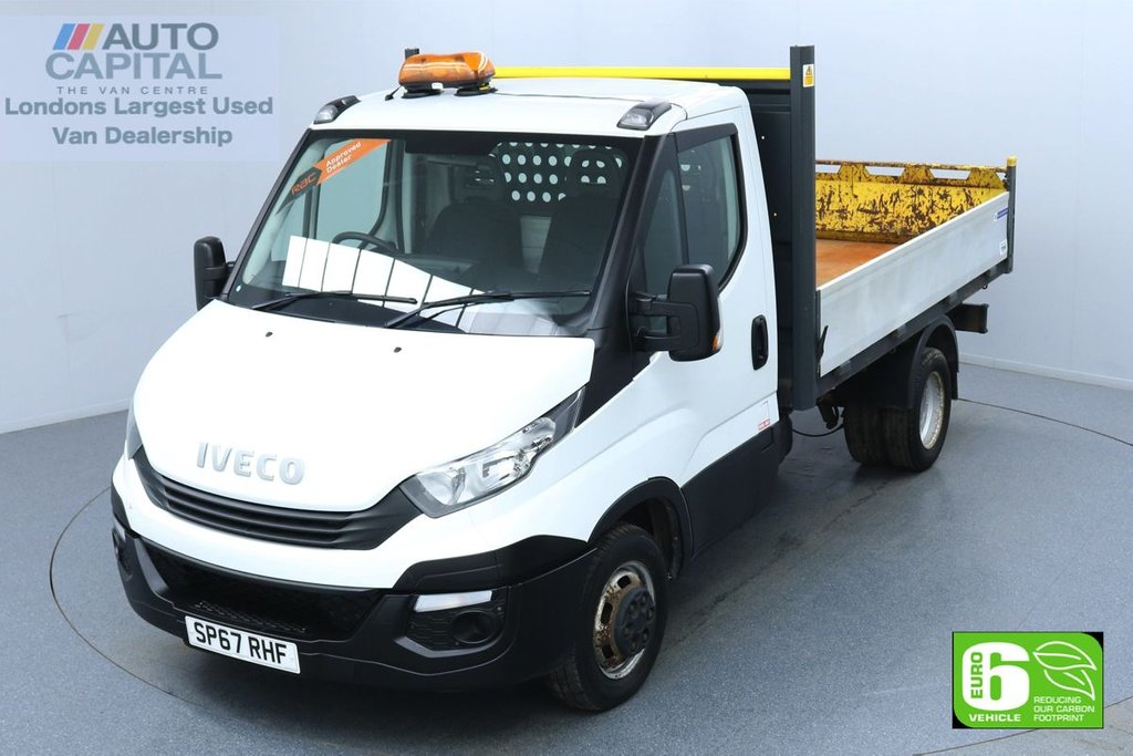 USED 2017 67 IVECO DAILY 2.3 35C14 RWD Twin Wheels MWB 135 BHP Euro 6 Low Emission Tipper Finance Available Online   Fully Sanitised   UK Delivery