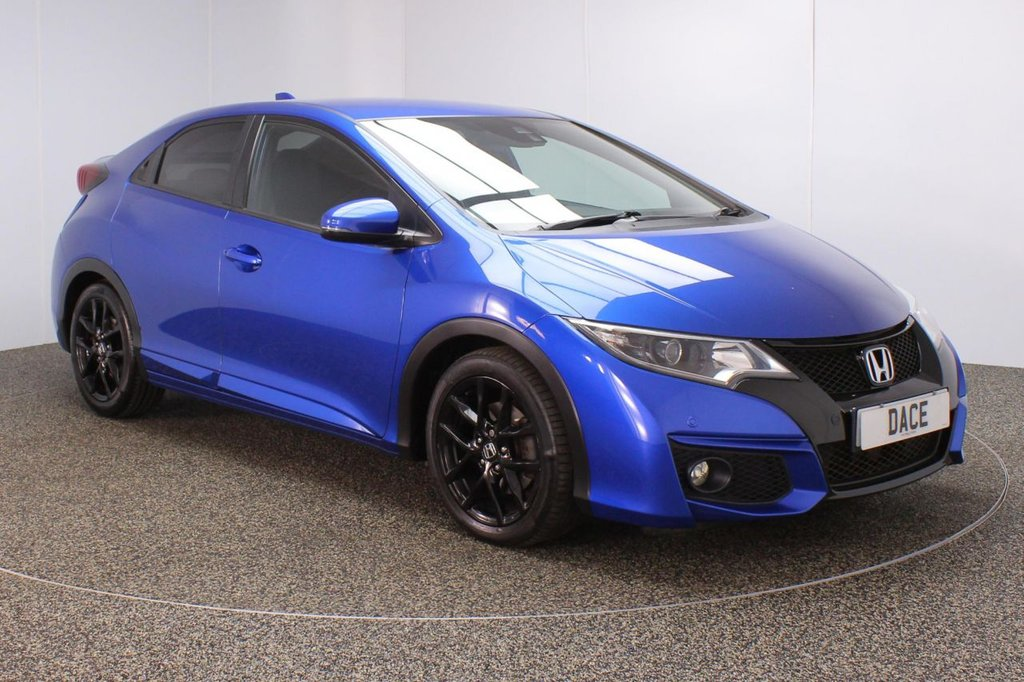 USED 2015 51 HONDA CIVIC 1.6 I-DTEC SPORT NAVI 5DR 118 BHP SERVICE HISTORY + £30 12 MONTHS ROAD TAX + SATELLITE NAVIGATION + REVERSE CAMERA + PARKING SENSOR + BLUETOOTH + CRUISE CONTROL + CLIMATE CONTROL + MULTI FUNCTION WHEEL + DAB RADIO + PRIVACY GLASS + XENON HEADLIGHTS + ELECTRIC WINDOWS + ELECTRIC MIRRORS + 17 INCH ALLOY WHEELS