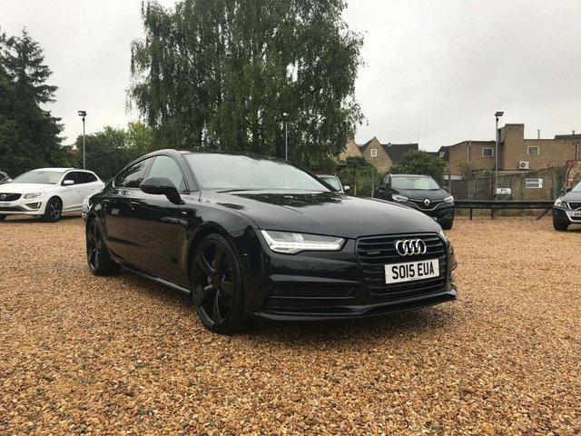 USED 2015 15 AUDI A7 3.0 TDI V6 Black Edition Sportback S Tronic quattro (s/s) 5dr Sat Nav, Bose & Heated Leather