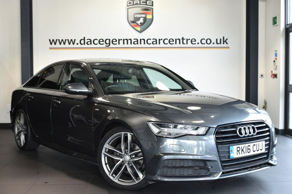 """USED 2016 16 AUDI A6 2.0 TDI ULTRA BLACK EDITION 4DR AUTO 190 BHP Finished in a stunning metallic grey styled with 20"""" alloys. Upon opening the drivers door you are presented with leather interior, full service history, satellite navigation, bluetooth, cruise control, DAB radio, sport seats, bose surround sound system, multi functional steering wheel, heated mirrors, climate control, parking sensors, ULEZ EXEMPT"""
